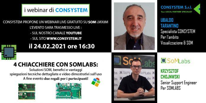 Webinar Gratuito: il mondo dei System On Module di Consystem e Somlabs