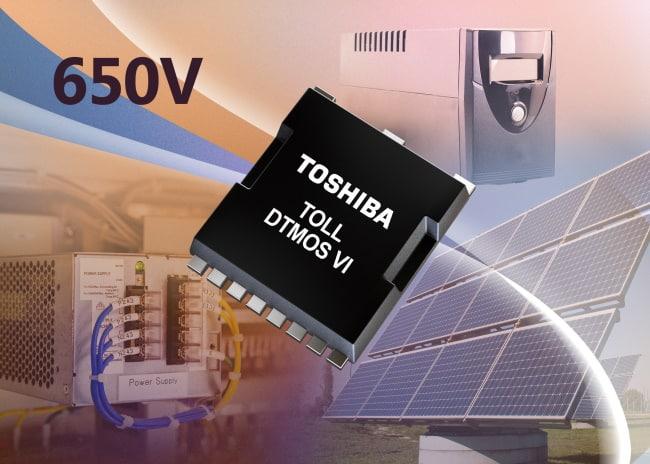 MOSFET di potenza a supergiunzione da 650 V in package TOLL