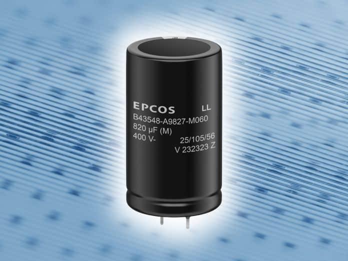 CCondensatore snap-in elettrolitici in alluminio con eccezionale capacità di corrente di