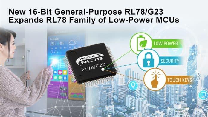 Microcontrollori Low Power a 16 bit con il nuovo RL78/G23