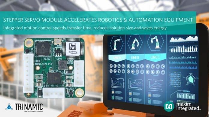 Il modulo servo controllore/driver accelera le applicazioni di robotica e automazione